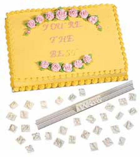 Wilton Cake Decorating Letters : Italic Make-Any Message Letter Press Set Wilton