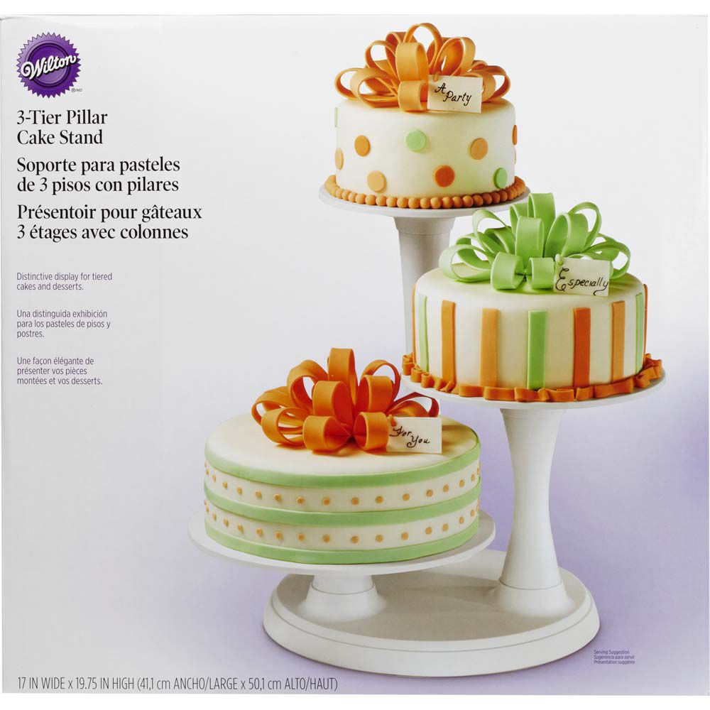 3 Tier Pillar Cake Stand Wilton
