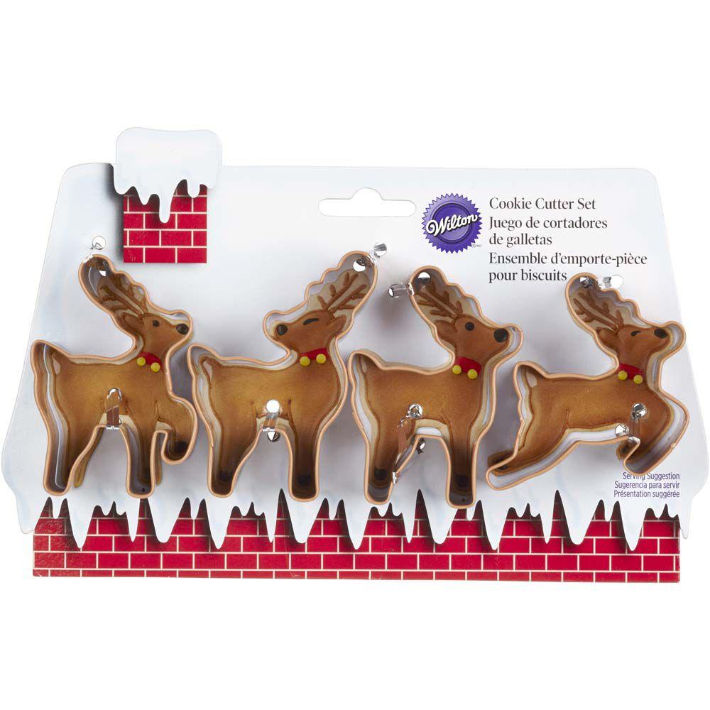 christmas reindeer cookie cutter set wilton