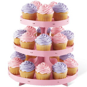 Pink Borders Cupcake Stand