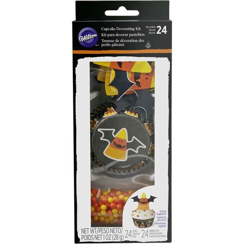 Wilton Halloween Candy Corn Bat Cupcake Decorating Kit