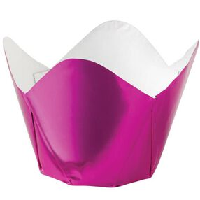 Pink Foil Pleated Baking Cups