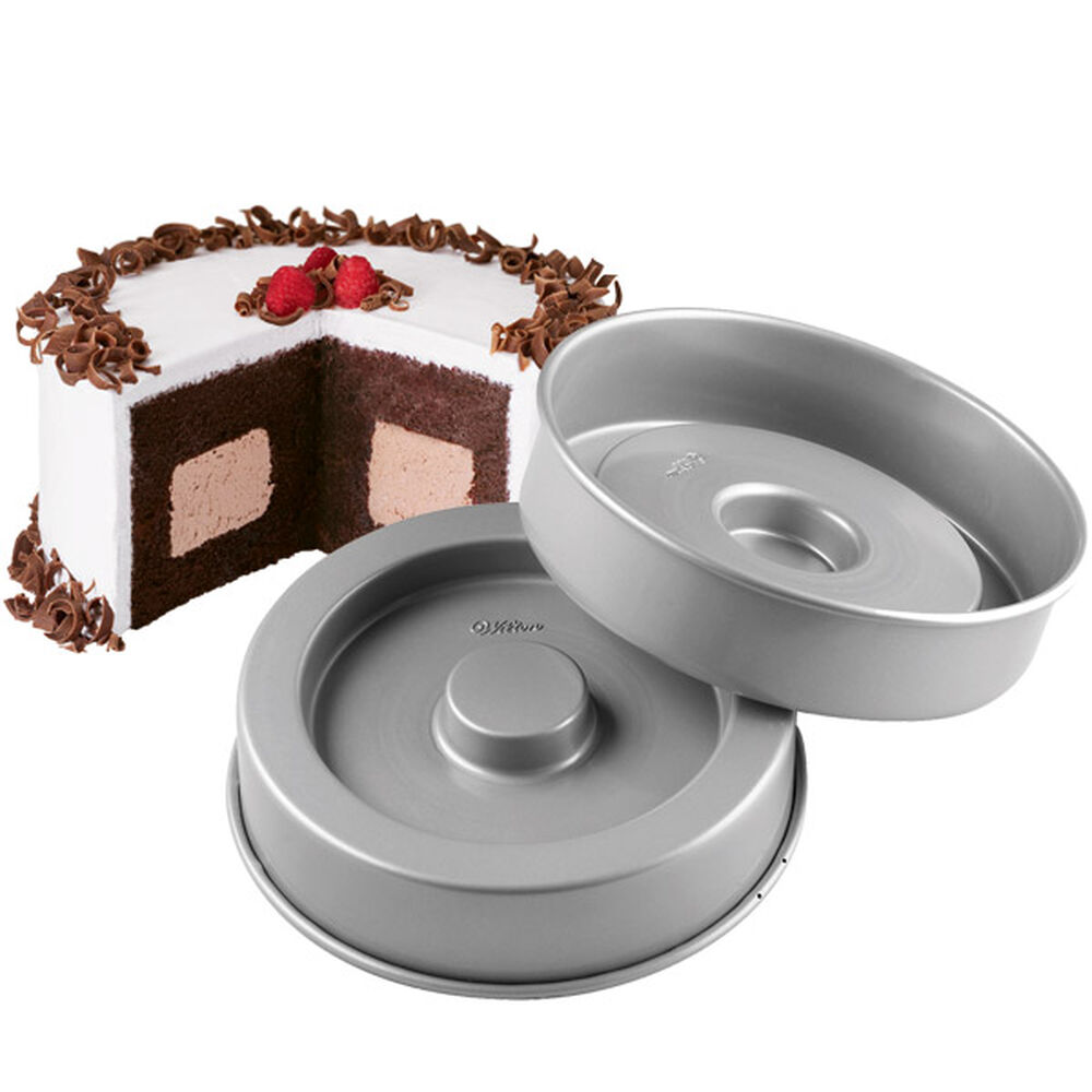 Wilton Fanci Fill Cake Pan Set