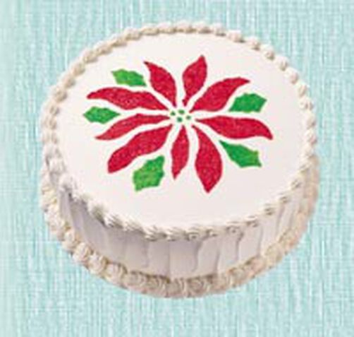 Poinsettia Cake Stencil