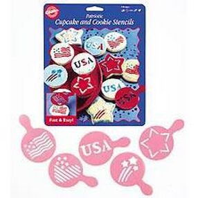 Patriotic Cupcake and Cookie Stencils