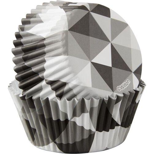 Black & White Geometric Cupcake Liners