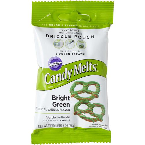 Wilton Bright Green Candy Drizzles Pouches