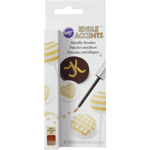 Gold Metallic Candy Paint Brush