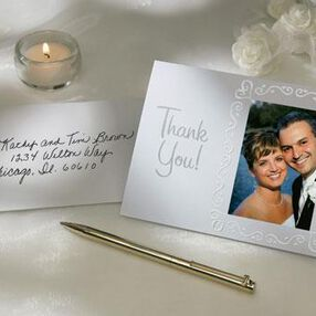 Curly Heart Photo Thank You Cards