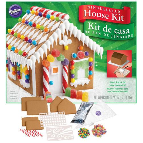 Unassembled Petite Gingerbread House Kit