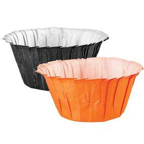 Black and Orange Ruffled Baking Cups