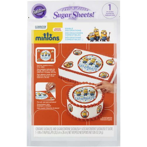 Minions Edible Images Cake Decorating Kit