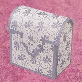Silver Chest Favor Boxes