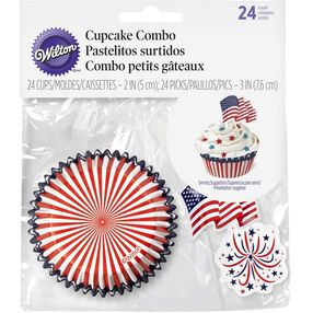 Red, White & Blue Cupcake Combo Set