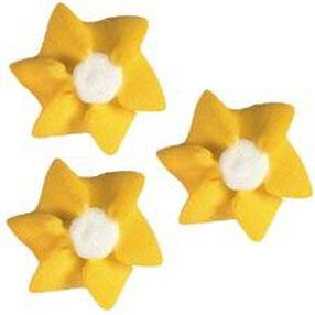 Yellow Petite Flowers Icing Decorations