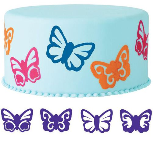 4-Pc. Butterflies Cake Stamp Set