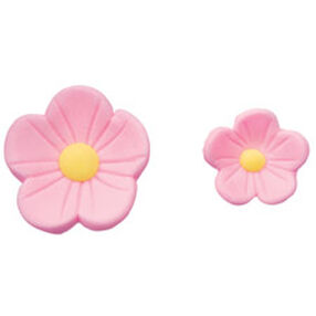 Pre-made Royal Icing Pink Posies