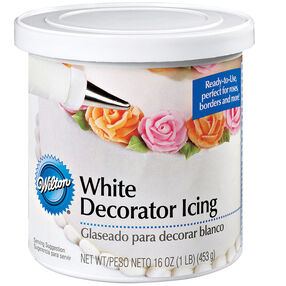 White Ready-To-Use Decorator Icing - 1 lb. Can