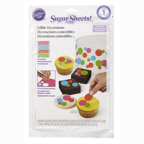 Wilton Dazzling Dots Pre-Cut Sugar Sheets! Edible Decorating Paper