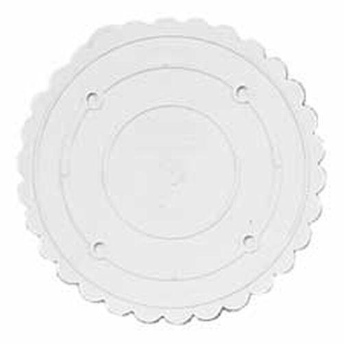 """Decorator Preferred 7"""" Scalloped Separator Plate"""
