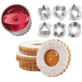 Round Linzer Cookie Cutter Set