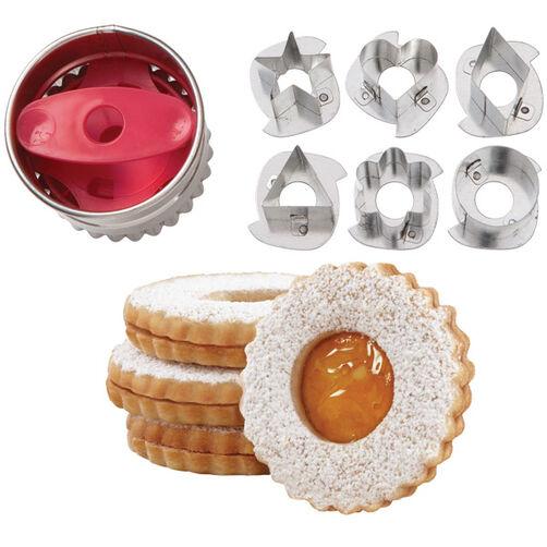 Round Linzer Cookie Cutter Set