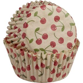 Unbleached Cherry Cupcake Liners