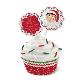 The Elf on the Shelf Cupcake Baking Cups and Picks, 24-Ct.