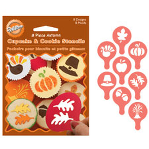 Autumn Cupcake and Cookie Stencils