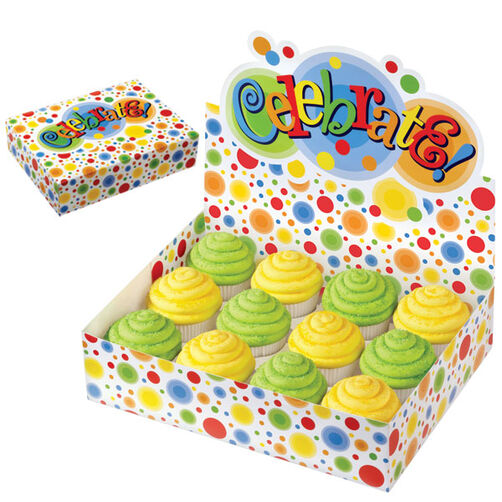 Circles Display Cupcake Box
