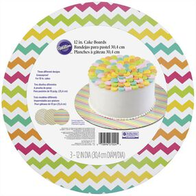 Wilton Assorted Brights Round Cake Board Set, 3-Ct.