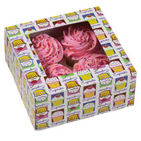 Cupcake Heaven Cupcake Boxes (Holds 4)