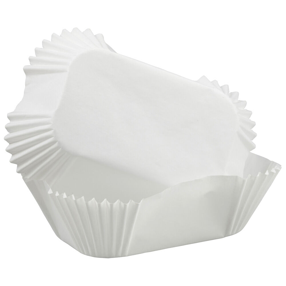 White Petite Loaf Baking Cups Wilton