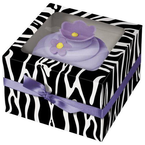 Zebra Cupcake Box