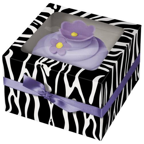 Zebra Cupcake Box- 3ct