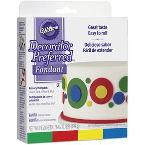 Wilton Decorator Preferred™ Fondant - Primary Color 4-Pack