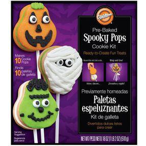 Pre-Baked Spooky Pops Cookie Kit
