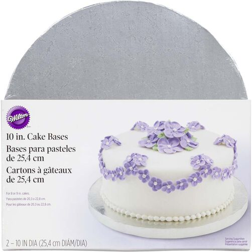 10 Inch Round Silver Cake Base