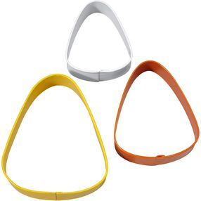Candy Corn Cookie Cutter Clear Metal Set, 3pc