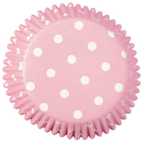Light Pink Polka Dots Cupcake Liners