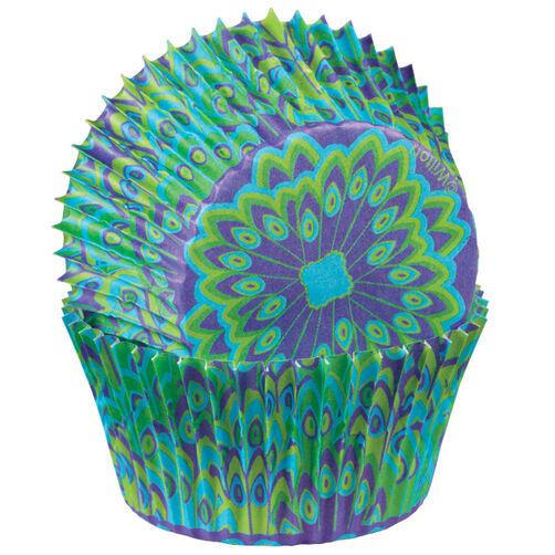 Peacock Cupcake Liners