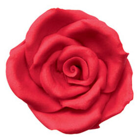 Pre-made Red Icing Rose - Large