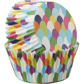 Fish Scale Pattern Cupcake Liners