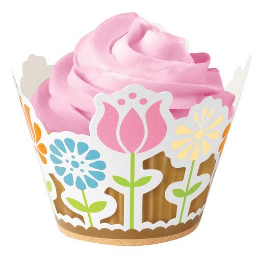 Modern Garden Party Cupcake Wraps
