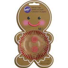 Gingerbread Boy Cupcake Liners