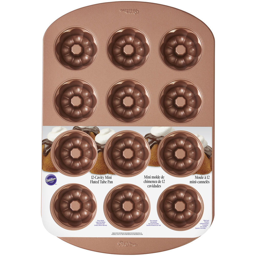 Mini Fluted Tube Cake Pan
