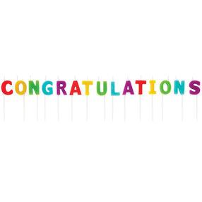 Multi-Colored Congratulations Candle Pick Set