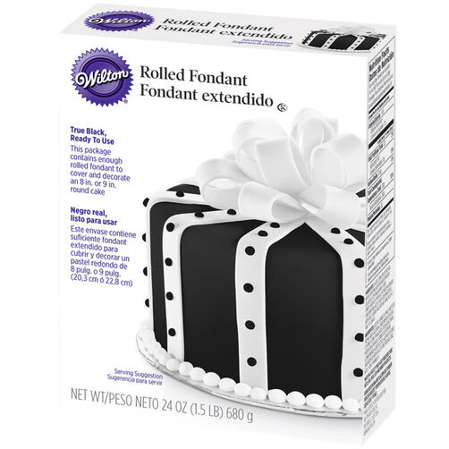 Ready-to-Use Black Fondant