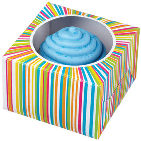 Color Wheel Single Cavity Cupcake Box