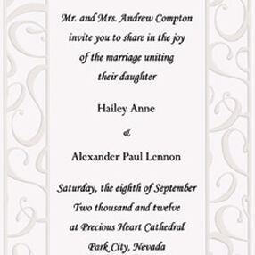 Elegant Swirls Wedding Invitation Kit